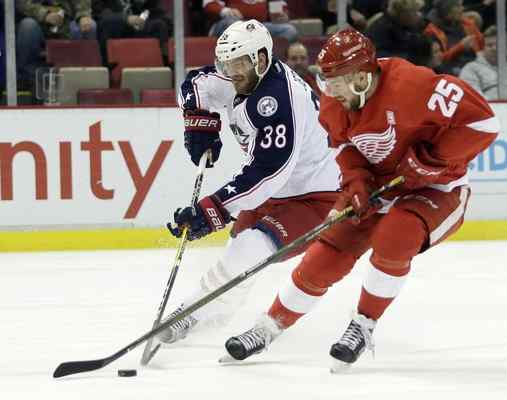 Blue Jackets win 4-1 over Red Wings