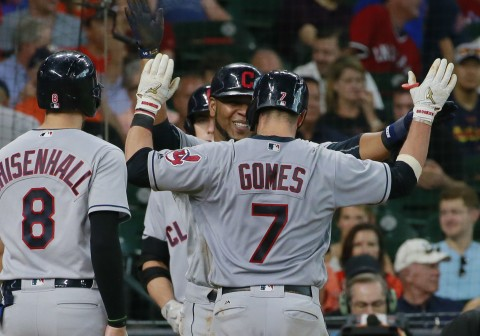 Gomes had 5 RBIs to helps Indians